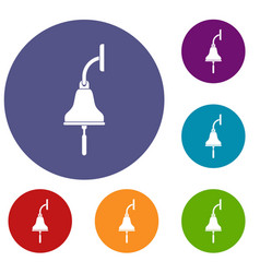 ship bell icons set vector image