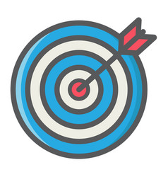 target colorful line icon business and dartboard vector image