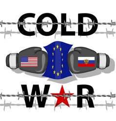 cold war-conflict vector image