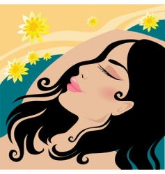 girl in the spa vector image vector image