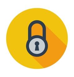 Lock single icon vector image