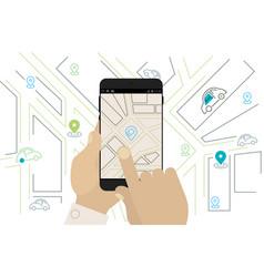 mobile car sharing navigation location app vector image