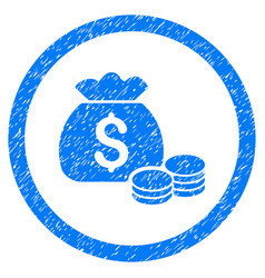 money bag rounded grainy icon vector image vector image