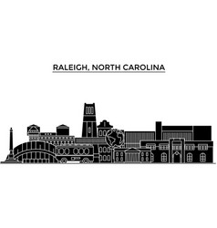 usa raleigh north carolina architecture vector image