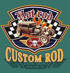 vintage hot rod garage vector image vector image