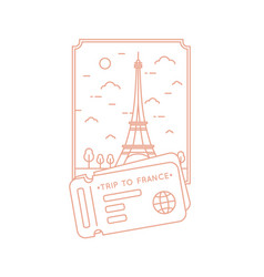 a journey through france vector image