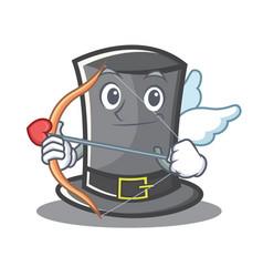 cupid thanksgiving hat character cartoon vector image