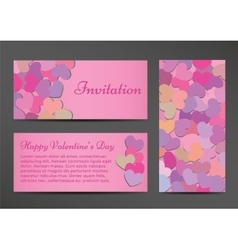 Invitation Valentines Day greeting card vector image