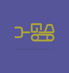 Linear tractor icon vector image vector image