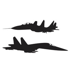 military fighter vector image vector image