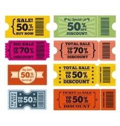 Sale tickets set vector image vector image