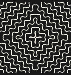 seamless pattern with concentric wavy lines vector image
