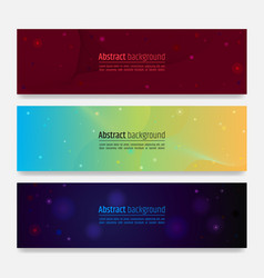 set of modern wave abstract background with swirl vector image
