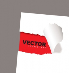 torn paper reveal red vector image vector image
