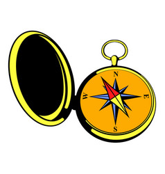 vintage compass icon icon cartoon vector image vector image