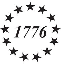 13 star betsy ross unionamerican flag usa vector image