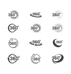 360 circle icon design vector