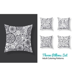 adult coloring patterns prints on a set of vector image
