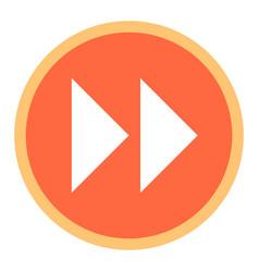 arrow sign fast forward flat circle icon vector image vector image