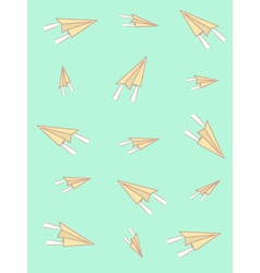 background with airplanes vector image vector image