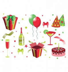 birthday icons vector image