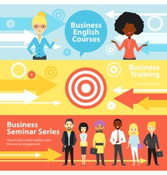 Business Training Horizontal Banners vector image