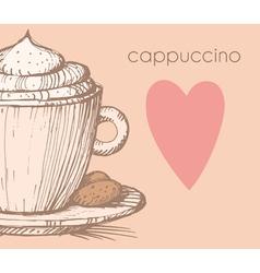cappuccino vector image