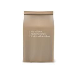 Classic paper bag vector