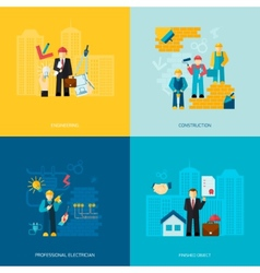 Construction Professions Set vector image