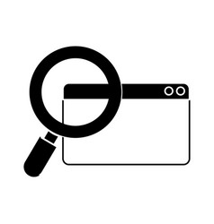 Contour digital magnifying glass search in the vector