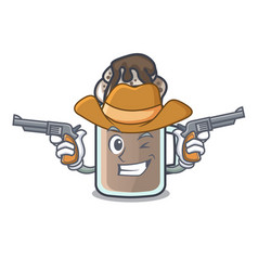 Cowboy milkshake character cartoon style vector