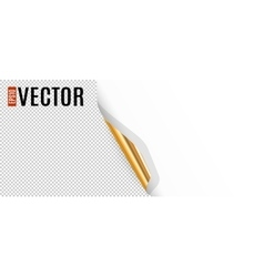 Curled Corner with Transparent Background vector