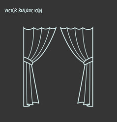 curtains icon line element of vector image