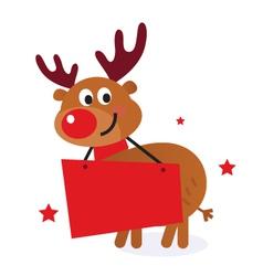 cute reindeer vector image