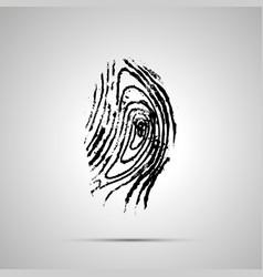 detailed human fingerprint simple black icon vector image