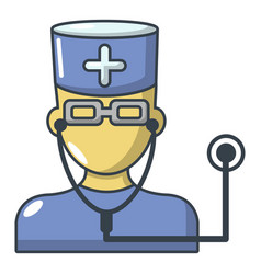 doctor icon cartoon style vector image