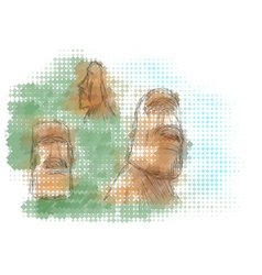 easter island vector image