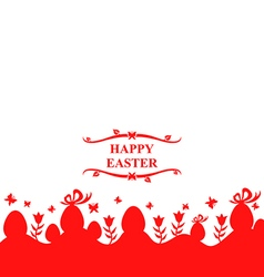 Eggs and flower red vector