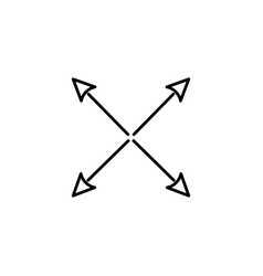 expand arrow icon vector image