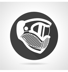 Extreme helmet black round icon vector