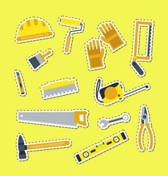 flat construction tools vector image