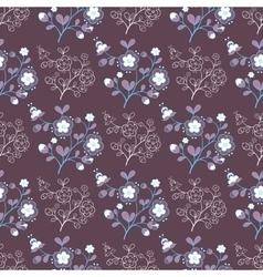Flowers On Purple vector