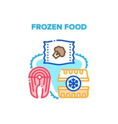 Frozen food concept color vector