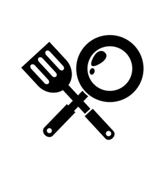 Frying Pan icon vector