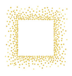 Gold square vector