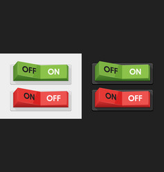 green and red power switches vector image