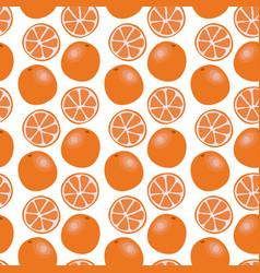 Hand drawn orange slices seamless pattern vector