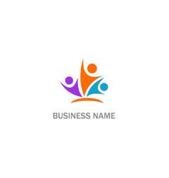 happy people active winner logo vector image