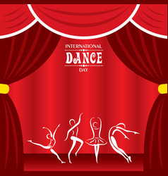international dance day greeting vector image