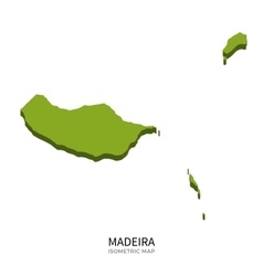 Isometric map of Madeira detailed vector